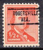 USA Precancel Vorausentwertung Preo, Locals Alabama, Rogersville 734 - Etats-Unis