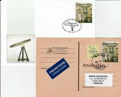 Lithuania  - 2003- FDC + Postcard Mich.#818 - 250 Years Observatorium In Vilnius - Lithuania