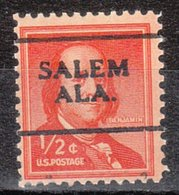 USA Precancel Vorausentwertung Preo, Locals Alabama, Salem 701 - Vereinigte Staaten