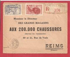 Y&T N°128+114  AGNEVILLE  Vers  FRANCE 1937  2 SCANS - Côte-d'Ivoire (1892-1944)