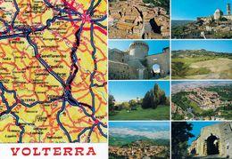 1 MAP Of Italy * 1 Ansichtskarte Mit Der Landkarte - Volterra Und Umgebung Bis Florenz * - Cartes Géographiques