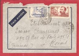 Y&T N°128+137   ABIDJAN Vers  FRANCE 1938  2 SCANS - Côte-d'Ivoire (1892-1944)