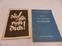 Dein Volk Ruft Dich Livret Petit Vocabulaire Allemand Alsace - Books