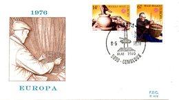 BELGIQUE. N°1800-1 De 1976 Sur Enveloppe 1er Jour. Oeuvres Artisanales/Poterie/Vannerie. - 1976