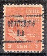 USA Precancel Vorausentwertung Preo, Locals Alabama, Scottsboro 723 - Etats-Unis