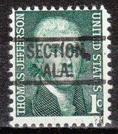 USA Precancel Vorausentwertung Preo, Locals Alabama, Section 802 - Vereinigte Staaten