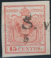 LOMBARDO-VENEZIA , Austria 1850 - Nᴼ 3I HP - Erstdruck Karmin - Nuevos