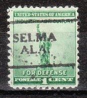 USA Precancel Vorausentwertung Preo, Locals Alabama, Selma 701 - Etats-Unis