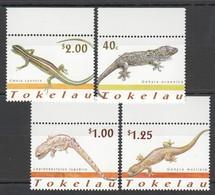 W646 2001 TOKELAU FAUNA REPTILES #298-301 1SET MNH - Reptiles & Amphibians