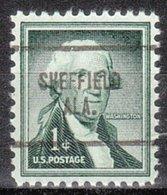 USA Precancel Vorausentwertung Preo, Locals Alabama, Sheffield 704 - Etats-Unis