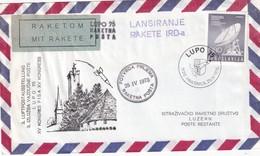 YOUGOSLAVIE 1975 LETTRE DE HRASNICA PAR POSTE FUSEE - 1945-1992 République Fédérative Populaire De Yougoslavie