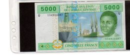 Banconota In Buono Stato Di Conservazione Franchi 5000 Emessa Nel 2002 Da Repubbblica Centroafricana - Central African Republic