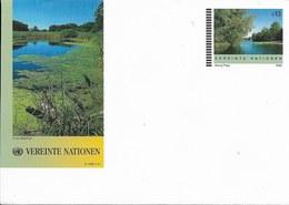 Onu, United Nations, Nations Unies,bureau De Vienne, Entier Postal 1998 , Env Neuve, Paysage De Cours D'eau - Centre International De Vienne