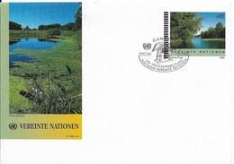 Onu, United Nations, Nations Unies,bureau De Vienne, Entier Postal 1998 , Env Fdc, Paysage De Cours D'eau - Centre International De Vienne