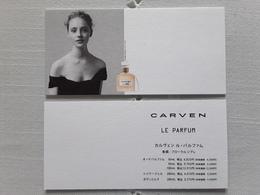 """CARVEN  """"  LE PARFUM  """"    Carte  JAPON !! - Perfume Cards"""