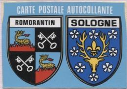 CPM - BLASON ADHESIF - ROMORANTIN SOLOGNE - Edition Hachennebe - Centre-Val De Loire