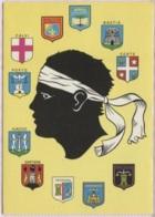 CPM - LA CORSE - BLASONS Des Villes - Illustration - Edition Gal - Cartes Géographiques