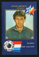 Russia USSR 1990 Football, World Soccer Stars: Marco Van Basten (Netherlands) - Calendriers