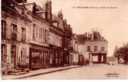 Nièvre : Entrains Sur Nohain : La Place Du Marché - Moulin Engilbert