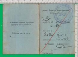 Civitanova Marche. A.T.I. Azienda Tranviaria. Tram. Abbonamento. Tessera. Trasporti. - Abonnements Hebdomadaires & Mensuels