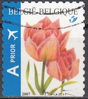 Belgique 2007 COB 3723A O Cote (2016) 2.00 Euro Tulipe Rose - Belgien