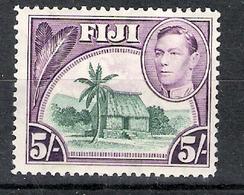 Fiji 1938 Definitives 5s MNH CV £4.50 - Fiji (...-1970)