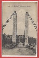 46 - GLUGES --  Entrée Du Pont Suspendu - Autres Communes
