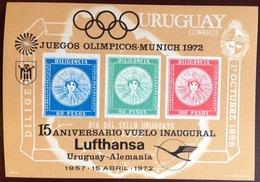 Uruguay 1972 Lufthansa Flight Minisheet MNH - Uruguay