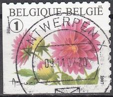 Belgique 2007 COB 3721B O Cote (2016) 2.20 Euro Dahlia Cachet Rond - Gebraucht