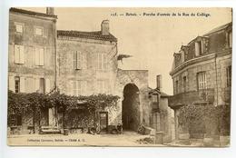 Belvès Porche D'entrée De La Rue Du Collège - France