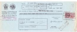 Wissel - Reçu - BNCI Paris Banque Dupont  à Cambrai - 1941 - Lettres De Change