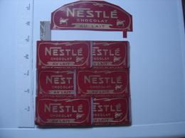 Très Ancien Carton Publicitaire NESTLE CHOCOLAT Au LAIT Incomplet ? - Plaques En Carton