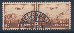 """HELVETIA - Mi Nr 390 (paar) - Cachet """"MELCHNAU"""" - (ref. 243) - Oblitérés"""