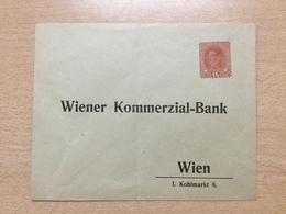 K6 Österreich Ganzsache Stationery Entier Postal Privatumschlag Von Wien Leichter Bug - Ganzsachen