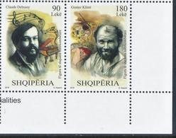 ALBANIA/Albanien, 2018 Distinguished International Personalities, Gustav Klimt In Set Of 2v** - Celebrità