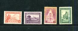 Ruanda-Urundi 1931-37 : 4 Timbres De Scènes Indigènes * - Ruanda-Urundi