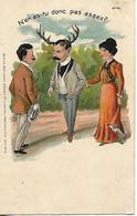 Carte 1903 / Humour / Tromperie Cornes / Editeur MARCOVICI Bruxelles / N°7151 / Marcophilie Tampon Ambulant ORMOY 70 - Humour