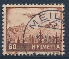 """HELVETIA - Mi Nr 390 - Cachet """"MEILEN"""" - (ref. 247) - Gebruikt"""