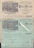 Rennes 35 - Ernest Picard - 2 Factures 1894, Outillage, Scierie Mécanique Route De Redon - 1800 – 1899