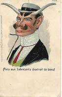 Carte 1903 / Humour /  Cornes De Boeuf / Editeur MARCOVICI Bruxelles / N°7138 / Marcophilie Tampon Ambulant ORMOY 70 - Humour