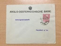 K6 Österreich 1913 Brief Von Wien Nach Frankfurt/Main PERFIN! - Briefe U. Dokumente