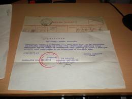 Telegram Nazy Okupation Banat Bavaniste Homokbalvanyos  Kovin 1943 Drzavni Telegram - 1939-45
