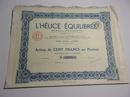 L'HELICE EQUILIBREE (1934) - Non Classés