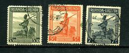 Ruanda-Urundi 1942 COB 140 141 143 ° - Ruanda-Urundi