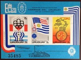 Uruguay 1975 Exfilmo IMPERF Minisheet MNH - Uruguay