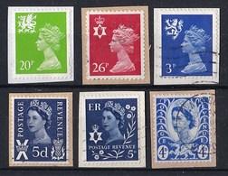 "Engeland - 6.500 Zegels Type ""Machin""  Regio - O - Onafgeweekt/op Fragment - Stamps"