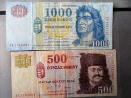 Hungary  1000 FORINT 2004 + 500 - Hongrie