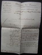 1824 Académie De Clermont, Université De France, Marque Sur  Lettre Du Recteur  Au Procureur Du Roi à Mauriac - 1801-1848: Précurseurs XIX