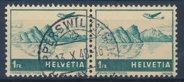 "HELVETIA - Mi Nr 392 (paar) - Cachet ""RAPPERSWIL (ST-GALLEN)"" - (ref. 255) - Poste Aérienne"