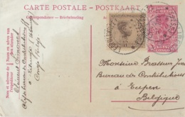 Entier Postal Du Congo Circulée En 1928 - Congo Belge - Autres